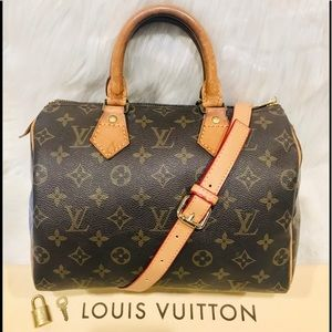 Authentic Louis Vuitton Speedy 25 Tote #3.4Q